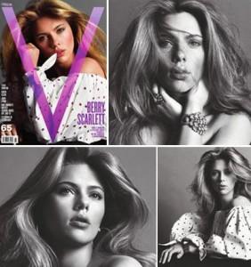 """Scarlett Johansson é quem estampa a """"V Magazine"""" número 65, que chega às bancas esta semana."""