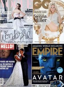 Pesquisa britânica nomeia as capas de revistas internacionais que mais chamaram atenção em 2009.