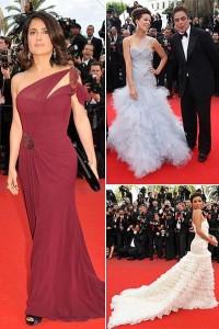 Eva Longoria, Kate Benckinsale e Salma Hayek desfilam no tapete vermelho do Festival de Cannes.