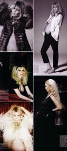 """Veja as fotos do recheio da """"Vogue"""" alemã que traz Claudia Schiffer grávida."""