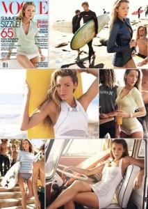 """Blake Lively é a escolhida para a edição que celebra o verão no hemisfério norte da """"Vogue"""" norte-americana."""