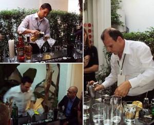 """A Casa Glamurama foi transformada em um grande bar para receber os finalistas da última etapa do concurso """" Diageo World Class"""""""