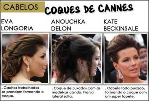 O coque com volume foi o penteado escolhido de Cannes. Veja.