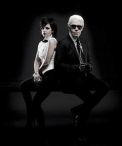 Karl Lagerfeld cortou relações com Lily Allen.