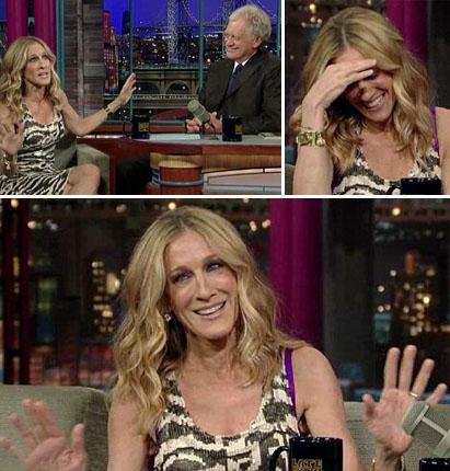 Sarah Jessica Parker no programa de David Letterman: momento saia-justa