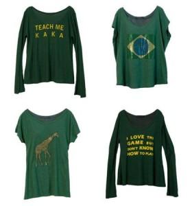 Viviana e Corina Ximenes lançam, nesta terça-feira, uma coleção de camisetas para usar durante a Copa do Mundo.