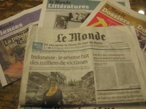 Jornal francês Le Monde está à venda.