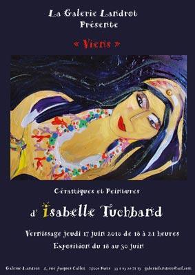 Convite da vernissage de Isabelle Tuchband: parada obrigatória em Paris