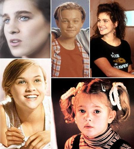Sarah Jessica Parker, Leonardo DiCaprio, Julia Roberts, Reese Whiterspoon, Drew Barrymore: no começo