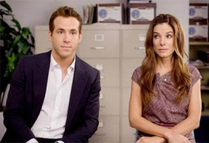 Sandra Bullock e Ryan Reynolds repetem dobradinha no cinema.