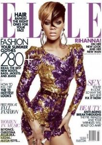 """""""É evidente que há menos mulheres negras na indústria da moda"""", diz Rihanna à """"Elle"""" norte-americana."""