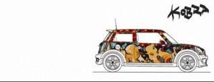 Dando continuidade ao projeto MINI Art Nights, é a vez de o grafiteiro Eduardo Kobra customizar o MINI Cooper.