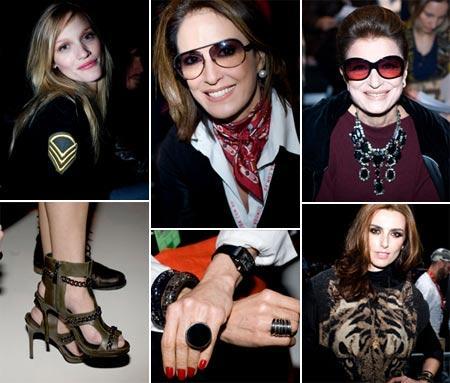 Carla Lamarca, Regina Martelli, Costanza Pascolato e Chiara Gadaleta: charme e estilo na fila A