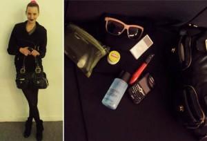 Cris Jurach abre sua bolsa e mostra quais são is itens que não podem faltar na sua bolsa durante a temporada.
