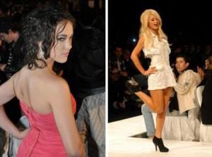Paris Hilton causa alvoroço no desfile da Triton.