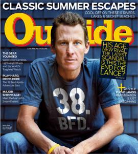 Lance Armstrong, o ciclista mais famoso do mundo, está descontente com a última aparição dele na mídia.