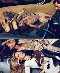 Raquel Zimmermann está na campanha de pre-fall da Gucci.