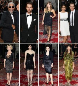 Domenico Dolce e Stefano Gabbana comemoram 20 anos de moda masculina com tapete vermelho estrelado.
