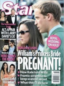 """Star"" magazine published a bombastic reportage on the prince William and Kate Middleton so expected wedding."
