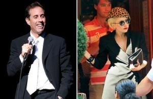 Jerry Seinfeld reclama de dividir um camarote com Lady Gaga.
