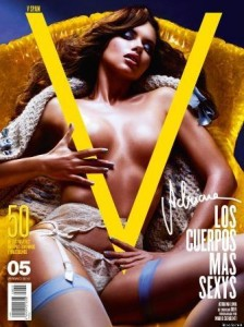 """Adriana Lima is back on magazine covers and this month posed for the Spanish """"V""""."""