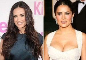 """according to the """"New York Post"""" journal, Demi Moore and Salma Hayek were seen – and heard – together in an excited conversation about working together in a future project"""