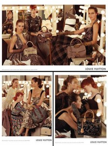 Louis Vuitton chose for its 2010 fall campaign models from three different generations.
