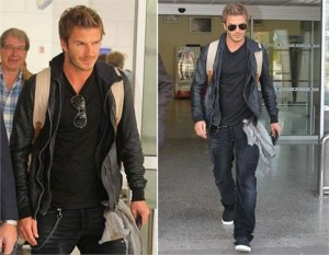 David Beckham landed this Tuesday morning in Nice, France, where the rest of the clan waits for him since last weekend.