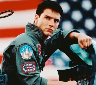"""Tom Cruise, como Maverick, em """"Top Gun"""": sequência?"""