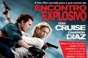 """Tom Cruise e a atriz Cameron Diaz vêm ao Rio de Janeiro para a première brasileira do filme """"Encontro Explosivo""""."""