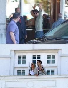 Cameron Diaz e Tom Cruise chegam ao Rio de Janeiro.