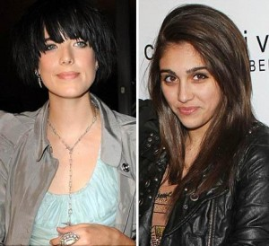 Lourdes Maria, Madonna's oldest daughter, seems to be more interested in model Agyness Deyn's style than in her mother's.