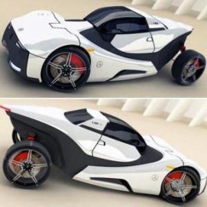 o Mercedes conceito C-ROC é um veículo anfíbio desenhado para transitar com facilidade do asfalto para a água.