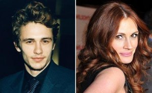 James Franco is all about compliments when it comes to Julia Roberts.