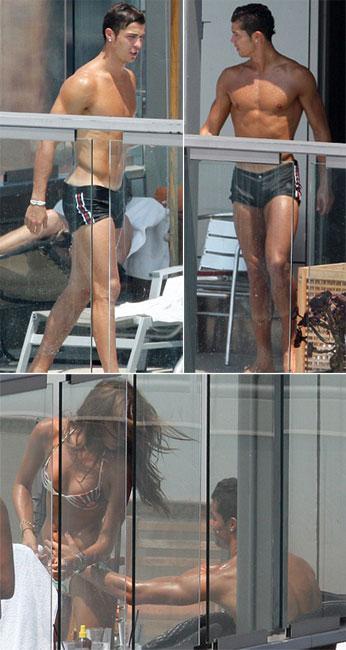 Cristiano Ronaldo e Irina Shayk: só no bronzeamento...