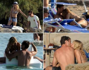In a honeymoon-like feel, Jude Law and Sienna Miller spent their Thursday under the sun drinking cocktails together.