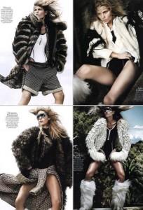 """Aline Weber é destaque na edição de agosto da """"Vogue"""" francesa."""