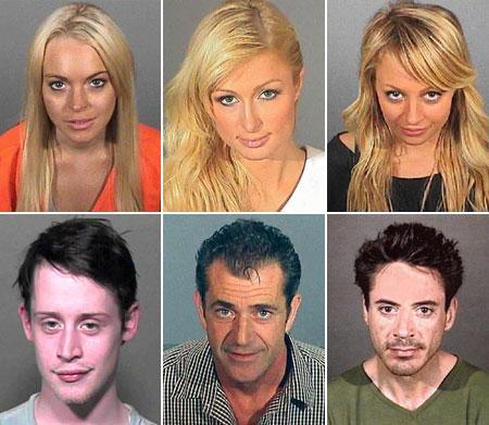 "Lindsay Lohan, Paris Hilton, Nicole Richie, Macaulay Culkin, Mel Gibson e Robert Downey Jr.: diga ""X"""