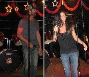 Gerard Butler e Demi Moore tiveram um sábado bem animado no Michigan, Estados Unidos.
