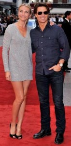 "Tom Cruise and Cameron Diaz went to the premiere of the movie ""Knight and Day"", this Thursday in London."