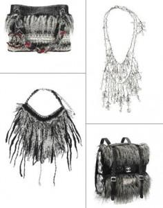 Chanel acaba de anunciar o lançamento de sua coleção de acessórios e joias inspiradas na coleção de inverno 2010/11.