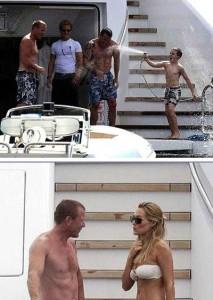 Mais um casal foi flagrado curtindo o verão europeu: Guy Ritchie e Jacqui Ainsley.