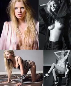 """Lara Stone está processando a """"Playboy"""" francesa por causa da publicação de fotos nuas dela na edição de julho da revista."""