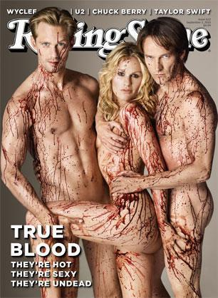 Alexander Skarsgard, Anna Paquin and Stephen Moyer: bloody daring