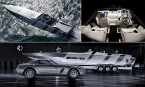 Lançada em fevereiro no Miami International Boat Show, a lancha inspirada no possante SLS AMG da Mercedes, já está à venda.