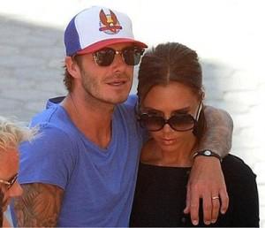 David e Victoria foram flagrados passeando com os amigos Gordon e Tana Ramsay, em Hollywood, nesta semana.