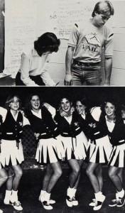 Brad Pitt e Sandra Bullock nos tempos do colégio