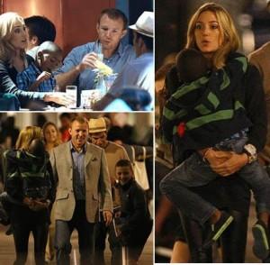 Nova namorada de Guy Ritchie já demonstra intimidade com os filhos dele e de Madonna.