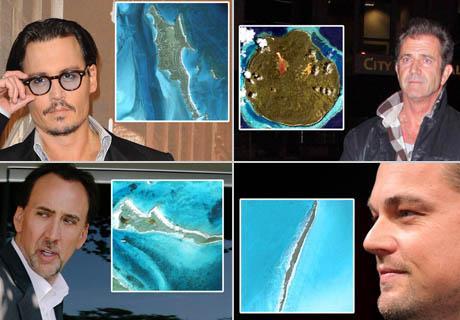 Johnny Depp, Mel Gibson, Nicolas Cage, Leonardo DiCaprio: sombra e água fresca
