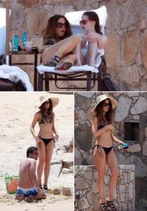 Kate Beckinsale passou o fim de semana no México com a filha, Lily, e o maridão, o diretor Len Wiseman.
